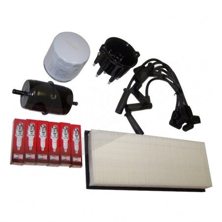 Kit entretien moteur Jeep Wrangler YJ 4.0L 94-95 - Allumage, tête, doigt, câbles, bougies, filtre air, huile, carburant // TK3