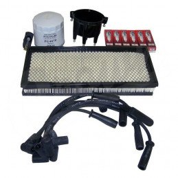 Kit entretien moteur Jeep Wrangler TJ 4.0L 97-98 - Allumage, tête et doigt Delco, fils, bougies, filtre air, filtre huile// TK4