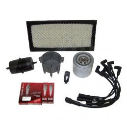 Kit entretien moteur Jeep Cherokee XJ 4.0L 87-90 - Allumage, tête, doigt, câbles, bougies, filtre air, huile, carburant // TK5
