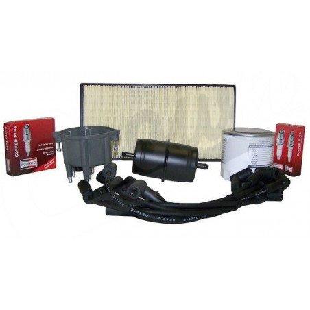 Kit entretien moteur Jeep Cherokee XJ 4.0L 91-93 - Allumage, tête, doigt Delco, câble, bougies, filtre air, huile, carburant