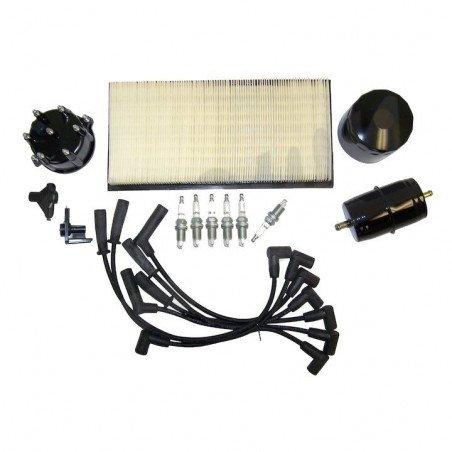 Kit entretien moteur Jeep Cherokee XJ 4.0L 94-96 - Allumage, tête, doigt Delco, câble, bougies, filtre air, huile, carburant