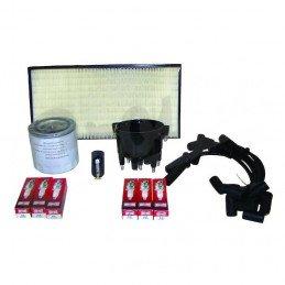 Kit entretien moteur Jeep Cherokee XJ 4.0L 99 - Allumage, tête, doigt Delco, câble, bougies, filtre air, huile, carburant // TK9