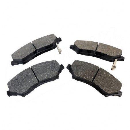 Jeu Plaquettes (x4) frein Avant Jeep Wrangler JK 2007-2018 / Cherokee KK 2008-2012 - semi-métalliques -- 68003701AA