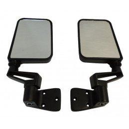 Rétroviseurs noirs (X2) - Droit + Gauche - montage sur charnières de portes - Jeep Wrangler YJ 1987-95 / TJ 1997-06 // 82200834K