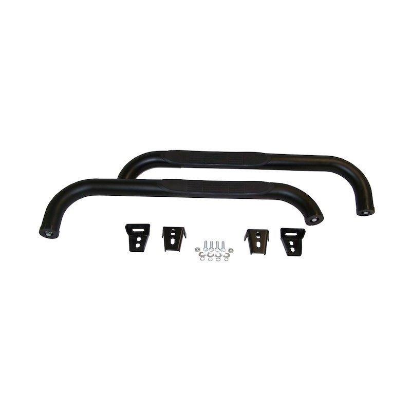 Protections bas de caisse tubulaires Rampage Noir satiné - Jeep Wrangler YJ 1987-1995 / Wrangler TJ 1997-2006 // RT26015
