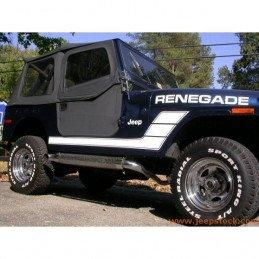 Échappement latéral chromé avec Glaspack intérieur - Jeep Wrangler - Cherokee - Grand-Cherokee / H1050