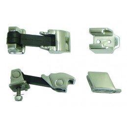 Fermetures / attaches capot (X2) en inox - Jeep Wrangler JK 2007-2011 // RT34075