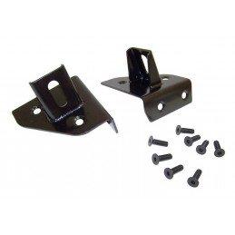 Supports de phares sur charnières (X2) de pare-brise, noir - Jeep Wrangler YJ 1987-1995 / CJ 1976-1986 // RT26021