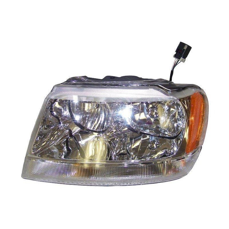 Optique de phare gauche - Limited avec réglage - Jeep Grand-Cherokee WJ 1999-2004 // 55155553AD