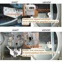 Mécanisme de lève-vitre électrique ARD avec moteur Jeep Cherokee-Liberty KJ 2002-2006 fixation vitre à goupille / 55360034AJ