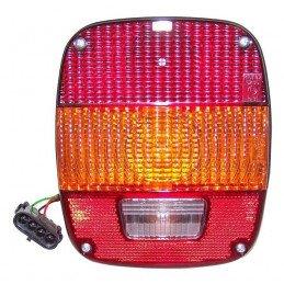 Feu arrière DROIT ou GAUCHE - Norme EUROPE - complet avec cabochon - Jeep Wrangler YJ 87-95 / CJ 81-86  // J5764204
