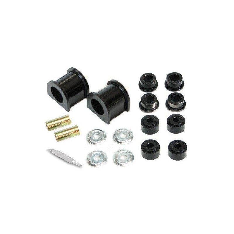 Kit silent-blocs barre stabilisatrice/antiroulis Avant en polyuréthane noir renforcé - Jeep Grand-Cherokee ZJ 93-98 // KJ05008BK
