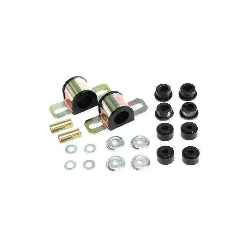 Kit silent-blocs barre stabilisatrice/antiroulis AVANT- 28mm - en Polyuréthane renforcé - Jeep Cherokee XJ 84-01 // KJ05005BK