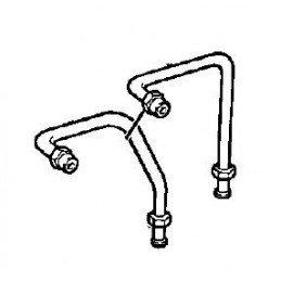 Tuyauteries entre maître-cylindre et vanne proportionnelle Jeep Cherokee XJ 1990-1991 avec kit modif freins elec - OCCASION