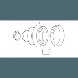 Kit soufflet de cardan avant gauche intérieur coté pont - Jeep Compass MK 2007-2016 // 68127821AA