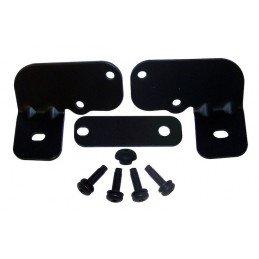Kit supports de phares fixés s/ renforts de pare-brise avec support antenne, D+G - NOIR - Jeep Wrangler JK 2007-2018 // RT28003