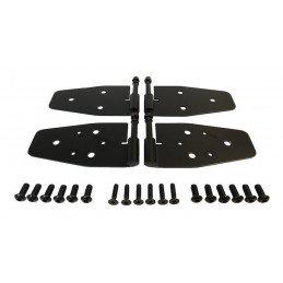 Charnières de portes (x4) - NOIRES - Jeep Wrangler YJ Demi-Portes 1987-1995 / Wranler TJ 1997-06 // RT34094