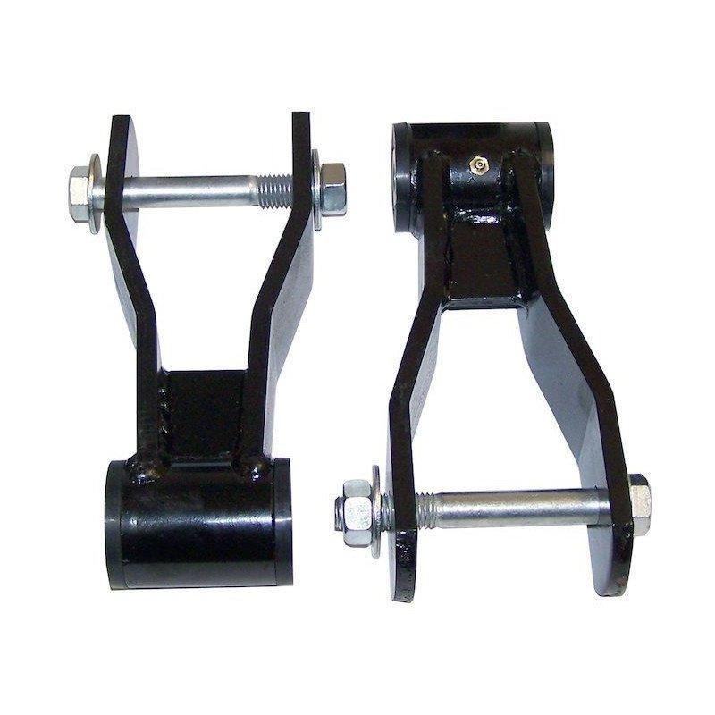 Jumelles arrières (X2) lames suspension + Silent Bloc + boulon & écrou- Rehausse 40 mm  - Jeep Cherokee XJ 1984-2001 // RT21045