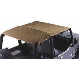 Bâche Bikini Jeep Wrangler YJ 1992-1995, Convertible 2 - 4 places, Marron Clair