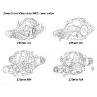 Pont avant et arrière Jeep grand Cherokee WK2
